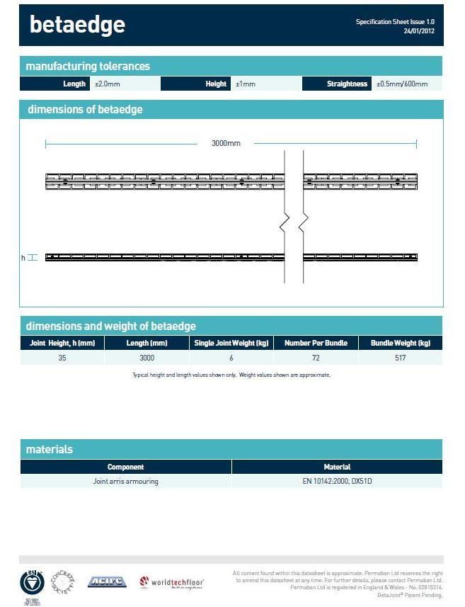 BETAEDGE deformaciniai profiliai